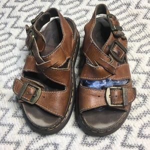 Vintage Dr. Martins Brown Chunky Platform Sandals
